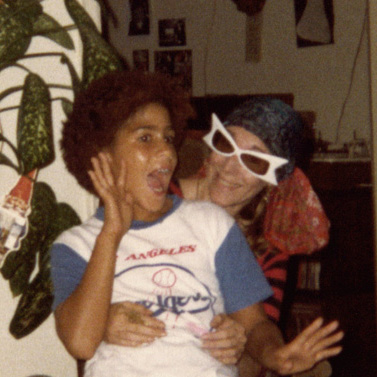 Shelley Bonus and Rain Pryor funning at our house.